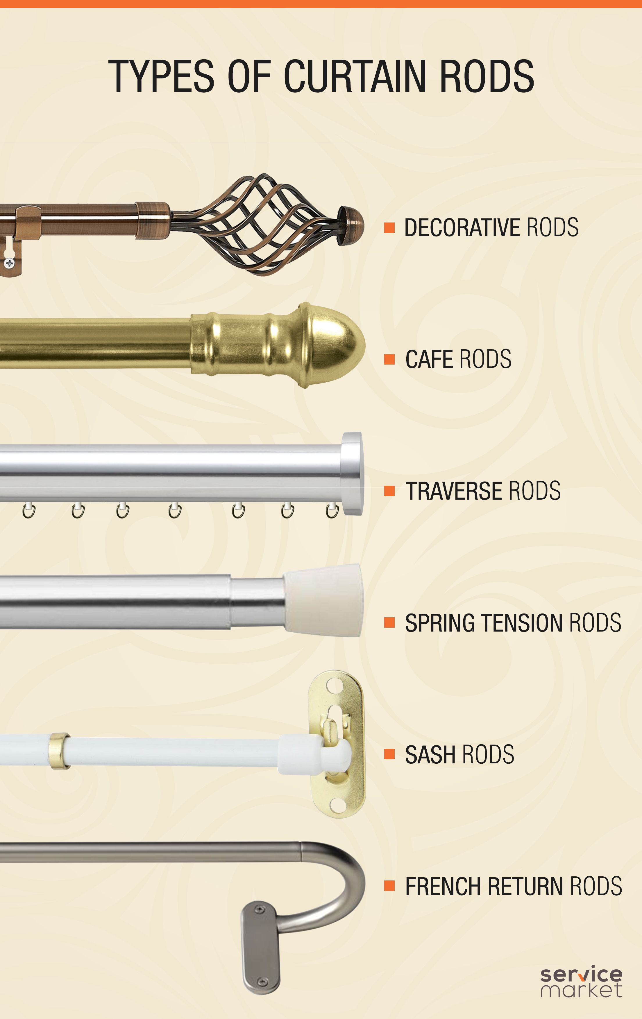 Types Of Curtain Rods In Dubai